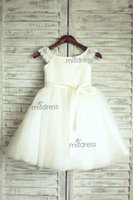 Wholesale Wedding Gown Lace Trims - New Lace Tulle Trimmed Baby Girl Princess Flower Girl Dress Professional custom Made Kids Dress