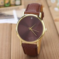 Fashion sale simple style geneva cuir PU montre dames femmes hommes unisexe quartz robe montre-bracelet