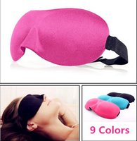 Wholesale Masks For Sleeping - Travel Sleep Rest 3D Sponge Eye Shade Sleeping Eye Masks Cover Nap Rest Patch Blinder for health care IN STOCK