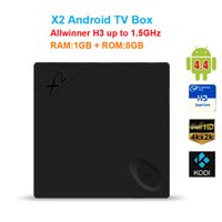 Wholesale Android Xmbc Tv Box - Beelink X2 Android 4.4 TV BOX H3 Quad-Core 1.5Ghz 1GB 8GB 4K Video UHD 1080P Wifi Smart TV Player HDMI XMBC