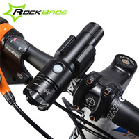 Wholesale Led Bike Head Light Rechargable - ROCKBROS Bicycle Rechargable Torch Light Bike Flashlight 3-Modes Battery18650 Bike Accessories Waterproof Bike Front Light+Retaining clip318