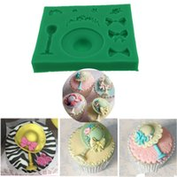 Wholesale Hat Mould - Valentine's Day Straw hat modelling silicone soap mold Cake decoration tool candy soap mould wedding cake topper