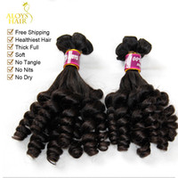 Indian Hair springs virgin - 3pcs Unprocessed Raw Virgin Indian Aunty Funmi Human Hair Weave Nigerian Style Bouncy Spring Romance Curls Thick Soft Hair Extensions
