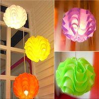 Wholesale Modern White Pvc Pendant Lamp - FUMAT Wave Ball PP Pendant Lamps Modern Colorful Puzzle PVC Pendant Light Dining Room Chandelier Suspension Luminaire Lotus Pendant Lamp