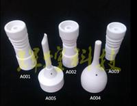ceramica para rda al por mayor-domeless clavo de cerámica DIRECTO inyectar diseño se ajusta tanto a 14 mm juntas de vidrio masculinos y 18 mm de vidrio macho junta de tubería RDA RBA Agua
