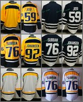 Wholesale Hockey Jersey Blank Black - Nashville Predators #59 Roman Josi 76 PK P.K. Subban 92 Ryan Johansen Blank Yellow White Blue Hockey Jerseys 100% Stitched