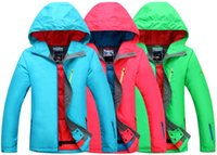 Wholesale Womens solid color ski jacket Women blue green rose snowboarding skiing jacket water proof K outdoor riding skating climbing jacket