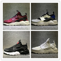 Wholesale Huaraches Basketball Shoes - 2017 New Unveils Huaraches 4 All Red Mesh Hurache Sneakers Ultra Breathe Men And Women Huaraches Running Shoes Size Eur 36-46