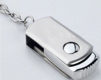 Wholesale Stainless Steel 256gb Flash Drive - 64GB 128GB 256GB USB 2.0 Key Chain Stainless Steel Metal Keyring Swivel USB Flash Drives Memory Stick for iOS Windows Android