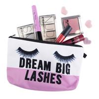 Wholesale Necessaire Makeup - Wholesale lashes 3D Printing Necessaire Women Cosmetics Bags New Travel Make up Bag Organizer Maleta de Maquiagem Organizador Makeup Bag