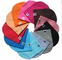 nette säuglingshüte für jungen großhandel-Unisex Cotton Beanie Hut für Neugeborene Cute Baby Boy Mädchen Soft Kleinkind Infant Cap viele Farben