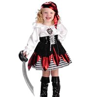 Wholesale Pirate Princess Halloween Costume - European Halloween Party Princess Dress Scarf Pirate Girls Cosplay Performance Costume Accessories Masquerade Party Decoration SD636
