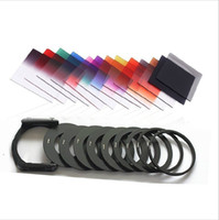 Wholesale Nd Filter Holder - 21in1 Set 11 pcs Square Gradual ND Color filter kit+9 metal Rings+ filter holder For Cokin P Series Camera