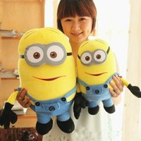 Wholesale Despicable Large Plush Toys - Big Size 20inch 50cm Minions 3D Despicable Me Eyes Yellow Large Minion Doll Plush Stuffed Toys For Children Christmas Birthday Gift 2015