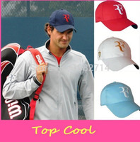 Wholesale Roger Federer Cap - Wholesale-2015 super star Limited edition latest new fashion tennis excellent quality Roger Federer RF Tennis tennis brand hat cap