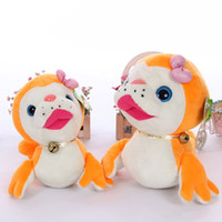 Wholesale Stuffed Dog Animal Toys - New cute sea animal big eyes seal with bell plush soft toys 25cm 35m stuffed sea dog sweety kids toys for girls gift