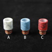 ecig nueva punta de goteo al por mayor-Nuevo Ecig Drip Tips Turquoise Drip Tip Hermoso Tophus Stone Drip Tips para RDA RBA Vaporizadores EGO Wide Bore Drip Tips
