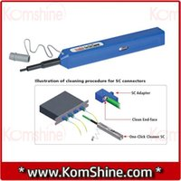 Wholesale Mu Connector - Wholesale-LC MU 1.25mm Fiber Optic Connector Cleaner One-Click Cleaner, Male Female Pen-style Ferrule Cleaner,Fiber Cleaning Tool