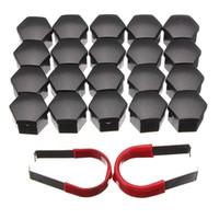 Wholesale nut oils - 20pcs set 19mm Car Plastic Caps Bolts Covers Nuts Alloy Wheel Protectors Matte Black