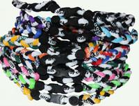 Wholesale Ge Titanium Necklaces - Triple flat clasp GE 200pcs 3 Ropes Tornado Energy titanium necklace free shipping by DHL