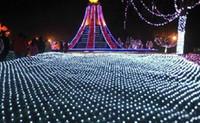 xmas light net venda por atacado-2 m * 3 m 210 leds Luzes Da Cortina de Luz Net Xmas Luzes Do Flash De Fadas Led Cordas de casamento Decoratio ac110v-250vn de Natal