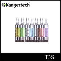 bobinas duplas de t3s venda por atacado-Kanger tech T3s atomizador duplo bobina clearomizer kanger T3s 3 ml atomizador kanger T3s cartomizer frete grátis