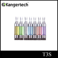 Wholesale T3s Clearomizer Coil - Kanger tech T3s atomizer dual coil clearomizer kanger T3s 3ml atomizer kanger T3s cartomizer free shipping
