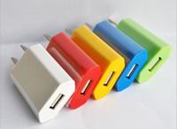 mini eu apple cargador de pared al por mayor-Universal EU EE. UU. FLAT CUBIC mini USB Adaptador de pared enchufe Cargador de viaje para el hogar 1A 5V para teléfono móvil inteligente 4s 5s 5c android s3 s4 e cigarro