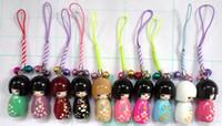 Wholesale Kokeshi Wholesale - Free shipping 10 Pcs  Lot High Quality Japanese Oriental Kokeshi Doll Handbag Charm