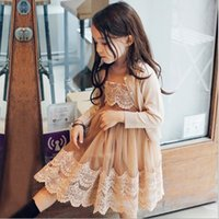 grade girls dress 2021 - Summer Baby Dresses Elegant Girls Lace Tulle Dresses Cute Kids Fashion Korean Clothes High-grade Childrens Clothing BJ D6549