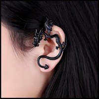 Wholesale Wholesale Jewelry Dragon Ear Cuff - styles European And American Pop Punk Earring Personality No Exaggeration Dragon Pierced Ear Clip charm infinite Ear Clip jewelry 170153