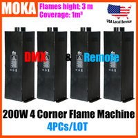 Moka MK-E01 4 pz / lotto 4 Angle Flame Thrower Stage 200W Flame Fire Machine 90 V-240 V dj Lanciafiamme