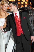 Wholesale Custom Made Romantic Groom Tuxedos Wedding Party Groomsman Suit Boys Suit Jacket Pants Tie Vest Bridegroom Suit