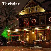 Wholesale Full Moving - Wholesale- Outdoor Moving Full Sky Star Christmas Laser Projector Lamp Green&Red LED Stage Light Outdoor Landscape Lawn Garden Light