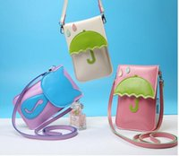 Wholesale Touch Shoulder Bags - Shoulder bag lovely cartoon PU woman screen touch hasp cell phone bag cross body coin bag