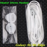 Wholesale samsung galaxy s6 edge plus microphone online – custom Premium High Quality In ear earphones Stereo headset with Mic Volume control headphone for Samsung Galaxy S8 plus S7 edge S6 EO EG920LW