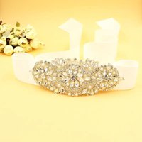 Wholesale Vintage Rhinestone Belts - Cheap Dazzing BlingBling Sashes and Belts Bridal Sashes Rhinestone Crystal Beads Vintage For Party Evening Accessories CPA529