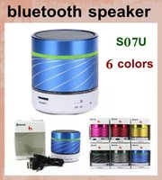 Wholesale Active Audio - mini bluetooth speaker computer speaker active audio speaker with speakers cable for iphone 6 samsung ipad colorful car S07U MIS010