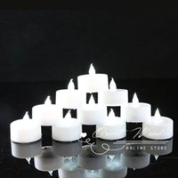 Wholesale White Wedding Pillar Candles - (36pcs  Lot )Led Candles White Electronic Flameless Tealight Decorative Candle For Wedding Birthday Party Decoration Bougie Led