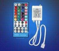 Wholesale 24v Led Light Strip 3528 - LED Light Strips 40Keys RGBW IR Remote Controller for SMD 3528 5050 300leds RGBW LED Strip Lights DC 12V-24V
