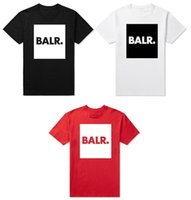 Wholesale Male Gradient Shirt - 2016 fashion Men t shirts balr shirt homme street Tide brand personality male short sleeve balr shirt 3 colors High quality