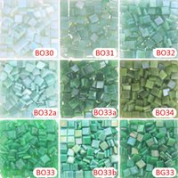 Wholesale Green Jade Pieces - 200g 270 pcs 10 X 10mm 3 8 inch Opacity Green Ice Jade Mosaic tiny , DIY Material Supplier, Mini Loose Ice Jade Glass Pieces