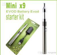 Wholesale X9 Mini Starter - retail MINI X9 Protank EVOD battery Blister pack electronic cigarette starter Kit, Mini Ptk Cartomizer Atomizer+ Evod Battery 650mah 64