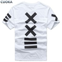 Wholesale men s pyrex shirt resale online - cuoka Fashion clothing hba Baseball xxlll t shirt hombre men Skateboard hip hop Pyrex Swag hip hop camisa O Neck tshirt women
