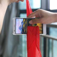 correio telefônico venda por atacado-2017 Novos Truques de Mágica De Seda Através Do Telefone Close Up Magia Fácil de Fazer Para O Mágico Profissional Gimmick E-mail Ensinar Vídeo