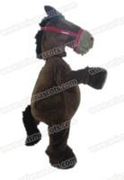 Wholesale Horse Fancy Dress - AM9242 horse mascot costume Fur mascot suit animal mascot outfit adult fancy dress