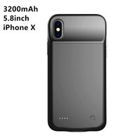 Wholesale Extended Cases - Battery Charger Case 3200mah Ultra Slim Portable Charger iPhone X iPhone 10 Extended Battery Pack Bank Cover