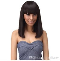 Wholesale Natural Hair Wigs Online - Short Bob Lace Wigs New Style Wigs Selling Online Natural Color Silky Straight Human Hair Wigs Bob Style Wig With Hair Ba
