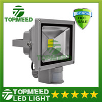 Wholesale Outdoor Led Motion Flood Lights - DHL IP65 Waterproof 10W 20W 30W 50W Led Floodlight Outdoor Project Lamp LED Flood light COB lighting 85-265V PIR Motion detective Sensor 55