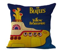 Wholesale Beatles Pillows - 8 types The Beatles Pillow Case Cotton Linen Square Throw Pillow Cases Cushion Covers Home Sofa pillowcase pillowslip Christmas Gift 240380